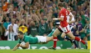 David Kearney's debut World Cup try capped an impressive, if expected, opening round victory over Canada.